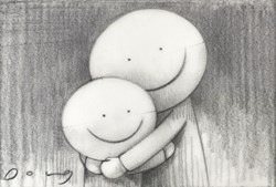 I Missed You (study) by Doug Hyde - Original Drawing on Mounted Paper sized 6x4 inches. Available from Whitewall Galleries