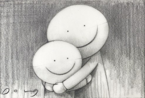 I Missed You (study) by Doug Hyde - Original Drawing on Mounted Paper